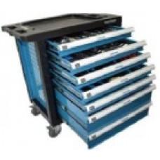 Ящик мобильный (тележка для инструмента) с набором инструментов 220 пр.